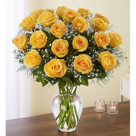 Yellow Roses Elegance 20-100 Stems