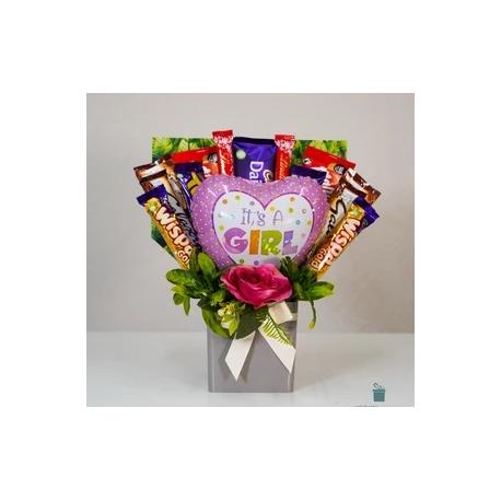 New Baby Girl Chocolate Gift set