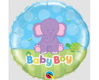 Baby Boy Elephant Foil Helium Balloon