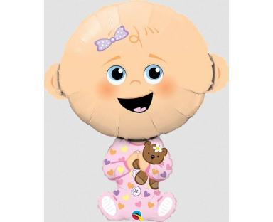 Baby Girl Foil Helium Balloon