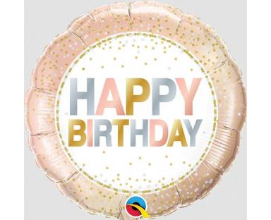 """Foil Balloon """"Birthday Metallic Dots"""""""