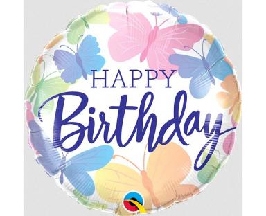 "Foil Balloon ""Birthday Beautiful Butterflies"""