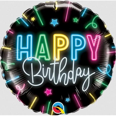 Happy Birthday Neon Glow