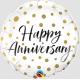 Happy Anniversary Gold Dots