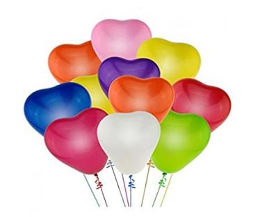 Heart Shape Latex Balloons