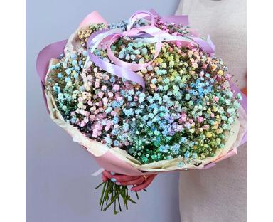 Rainbow Gypsophila Bouquet