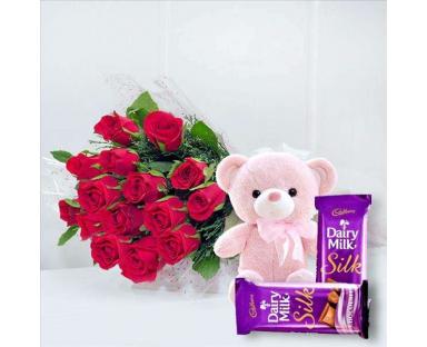 Red Roses, Choco, Bear