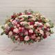 "Red Roses,Pink Roses, Spray Roses,Wax Flowers, Eucalyptus ""Luxury"" in a Basket"