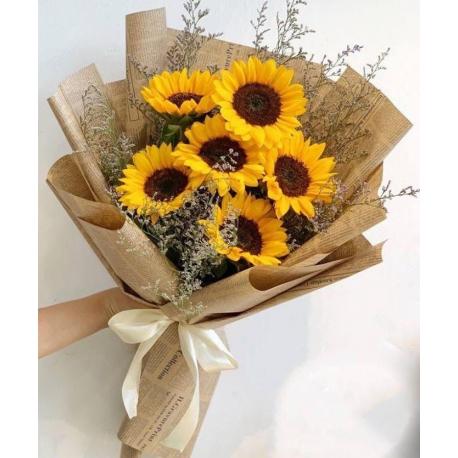 "6 Sunflowers Bouquet""Avery"""