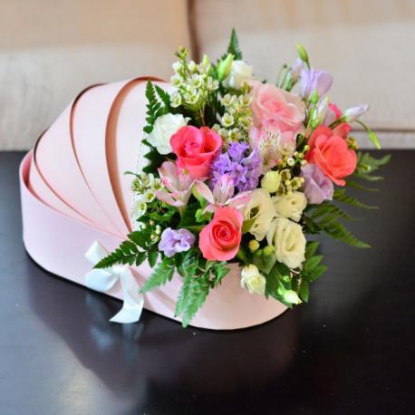 """Roses,Eustoma Bouquet """"Chloe"""""""