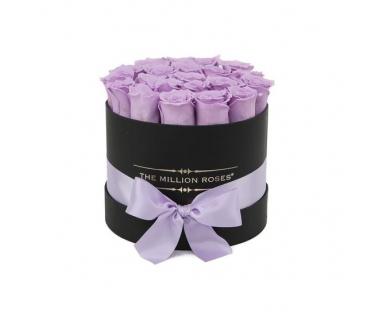Purple Roses in Black Box