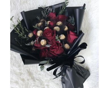 Red Roses&Ferrero Rocher Bouquet