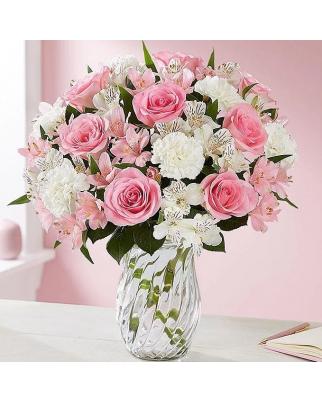Newborn's Girl Vases with flowers